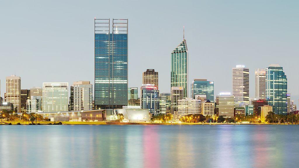 City skyline of Perth Australia